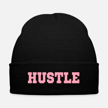 Hustle HUSTLE - Knit Cap with Cuff Print