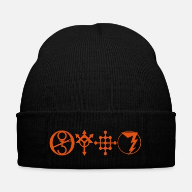 Spiritual Green God Gnosis 777 8 - Knit Cap with Cuff Print