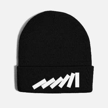 Fall Dominos Falling Down in a chain - creative design - Knit Cap