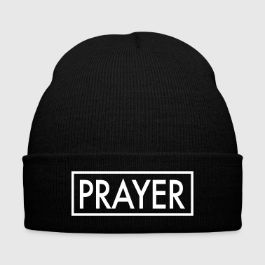 PRAYER - Knit Cap with Cuff Print