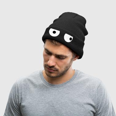 Funny Squint Eyes - Creative Design - Knit Cap with Cuff Print