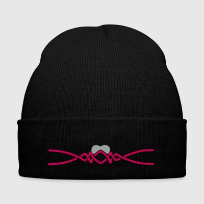 Heartbeat - Knit Cap with Cuff Print