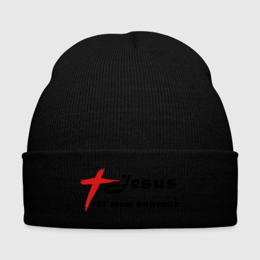 jesusauveur - Knit Cap with Cuff Print