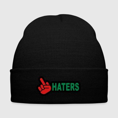 Hatersfuck - Knit Cap with Cuff Print