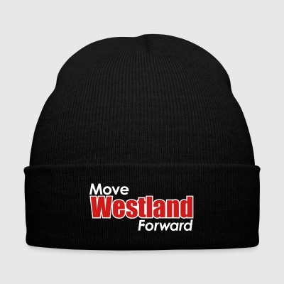 MOVE WESTLAND FORWARD - Knit Cap with Cuff Print
