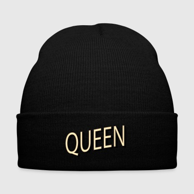 QUEEN - Knit Cap with Cuff Print
