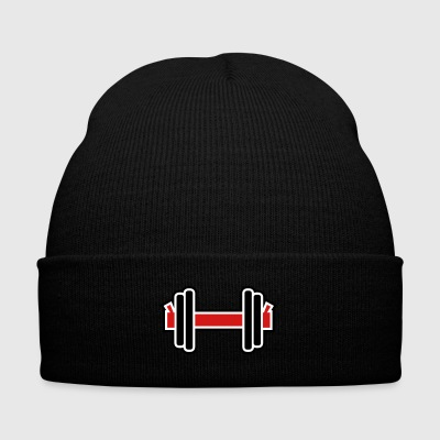 Dumbbell - Knit Cap with Cuff Print