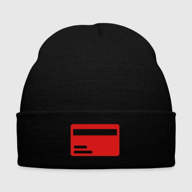 Credit card - Knit Cap with Cuff Print