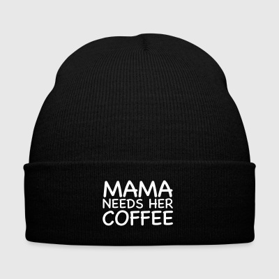 Mama Needs Her Coffee - Knit Cap with Cuff Print