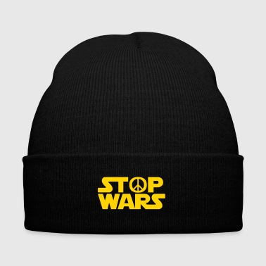 Stop Wars - Knit Cap with Cuff Print