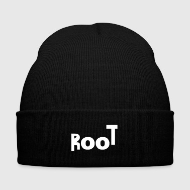 I'm root - Knit Cap with Cuff Print