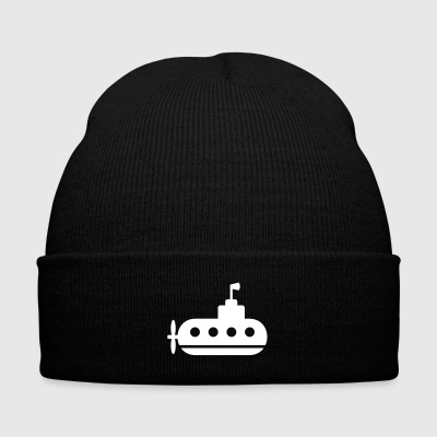 submarine in the ocean - Knit Cap with Cuff Print