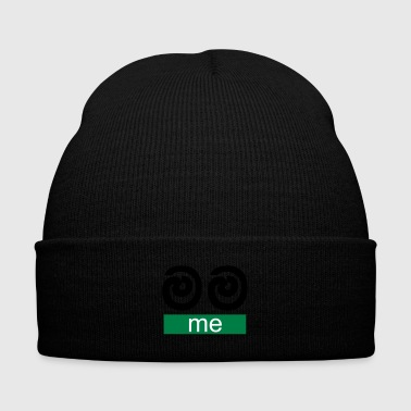 Mama (Me) - Knit Cap with Cuff Print