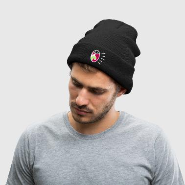 A Screaming Mouth - Knit Cap with Cuff Print