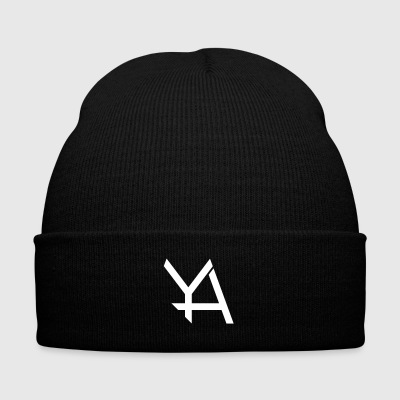 Young Adamant Black Logo - Knit Cap with Cuff Print