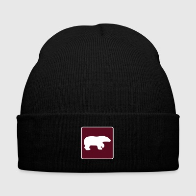 Bear - Knit Cap with Cuff Print