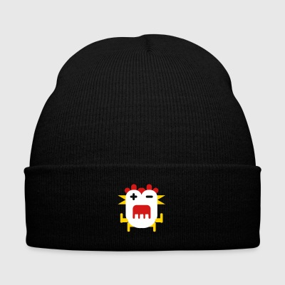 Chicken scream face - Knit Cap with Cuff Print