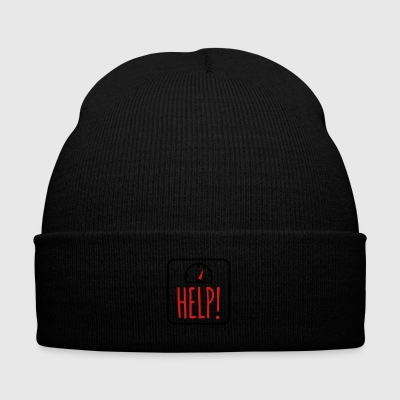 overweight help me - Knit Cap with Cuff Print