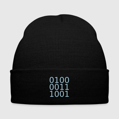 computing - Knit Cap with Cuff Print