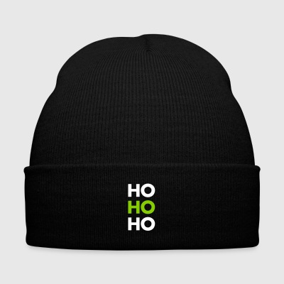 Ho ho ho! - Knit Cap with Cuff Print