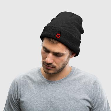 lock with heart - Knit Cap with Cuff Print