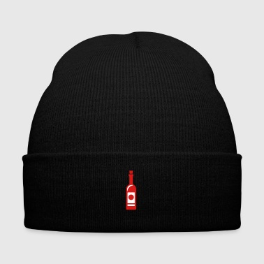 Wine bottle - Knit Cap with Cuff Print