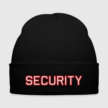 Security - Knit Cap with Cuff Print