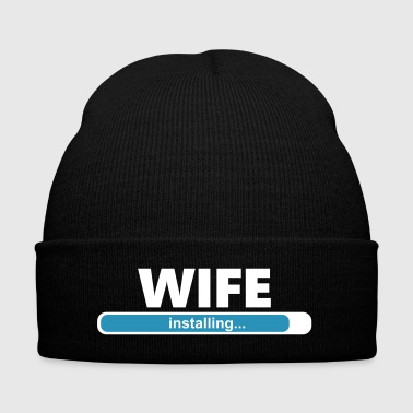 Installing Wife (1065V) - Knit Cap with Cuff Print
