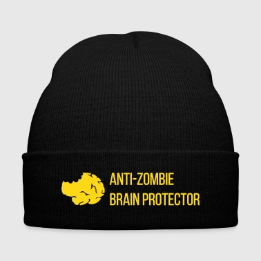 Anti-Zombie Brain Protector - Knit Cap with Cuff Print