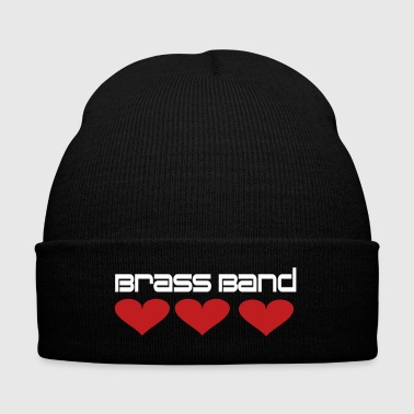 Brass Band Hearts - Knit Cap with Cuff Print