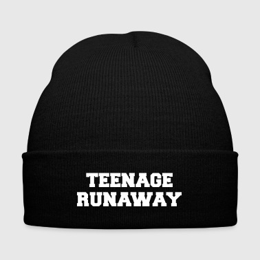 Teenage Runaway Funny Quote - Knit Cap with Cuff Print