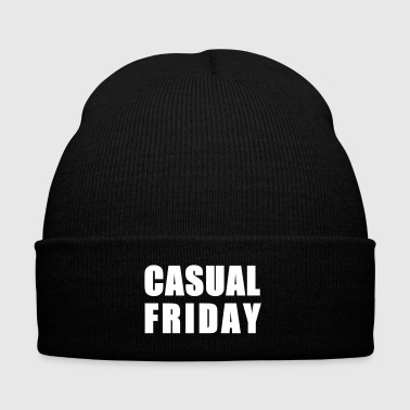 CASUAL FRIDAY - Knit Cap with Cuff Print
