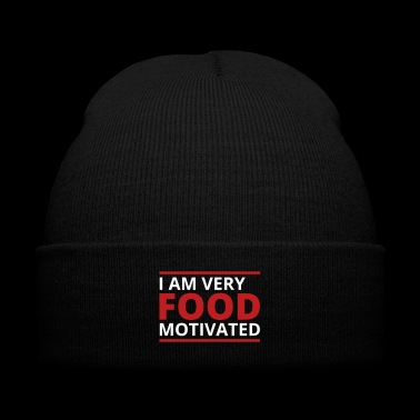 Food Motivated - Knit Cap with Cuff Print