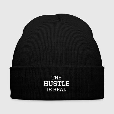 The Hustle is Real - Knit Cap with Cuff Print