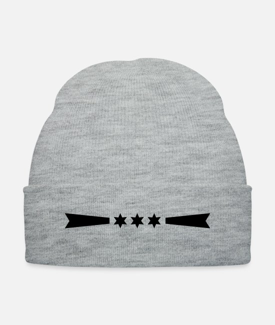 Line Caps & Hats - star_line_f1 - Knit Cap heather gray