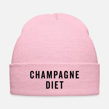 Diet Champagne Diet Funny Quote - Knit Cap