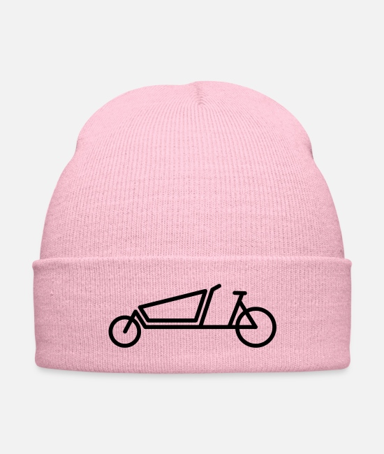 Road Bike Caps & Hats - bakfiet cargo bicycle logo - Knit Cap pink