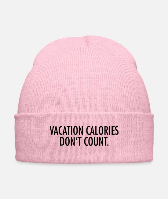Mexican Caps & Hats - Vacation calories don't count - Knit Cap pink