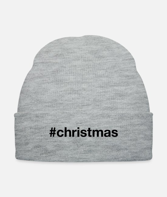 Christmas Caps & Hats - CHRISTMAS - Knit Cap heather gray