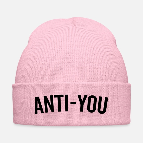 Offensive Caps - Anti-You Funny Quote - Knit Cap pink