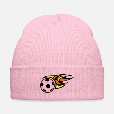 Soccer Ball Soccer Ball On fire traveling - Knit Cap