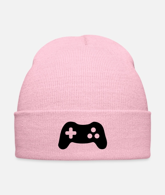 Pro Gamer Caps & Hats - Gamepad - Knit Cap pink