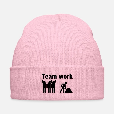 Worker teamwork worker - Knit Cap
