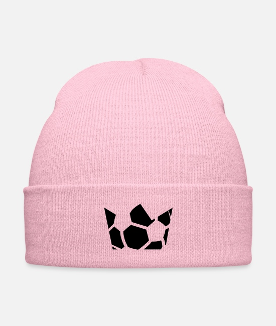Gold Caps & Hats - King of soccer - Knit Cap pink