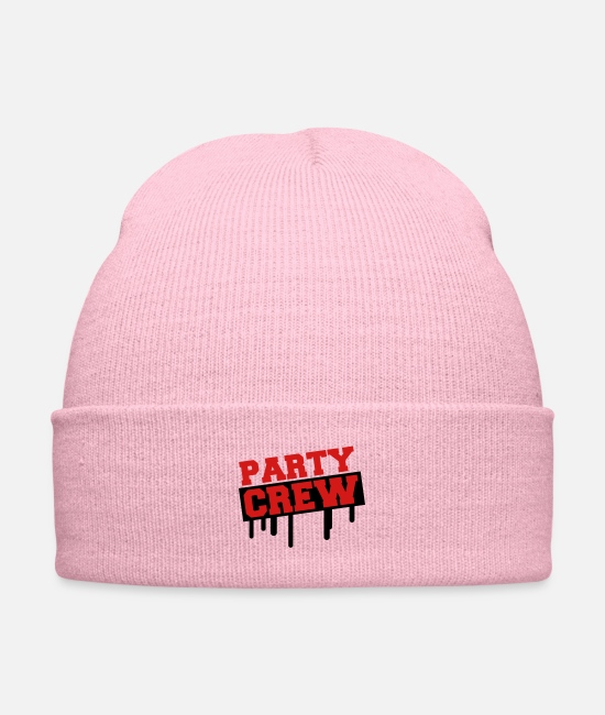 Holidays Caps & Hats - Party Crew Design - Knit Cap pink