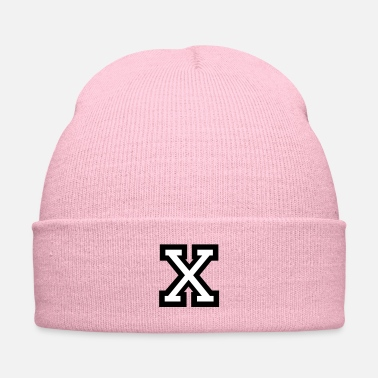 Name Day Letter X (Two-Color) - Knit Cap