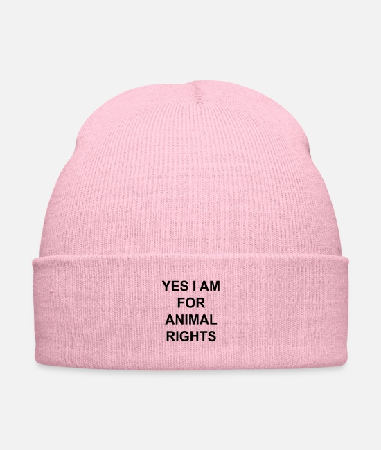 Nature Caps & Hats - yes I am for animal rights - Knit Cap pink