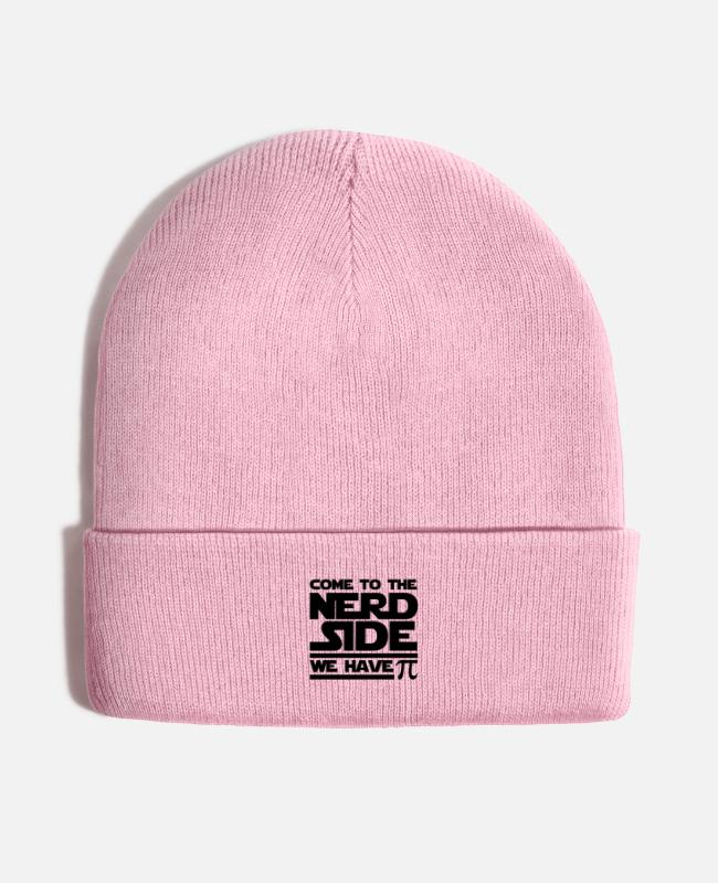 Quote Caps & Hats - Come To The Nerd Side - Knit Cap pink