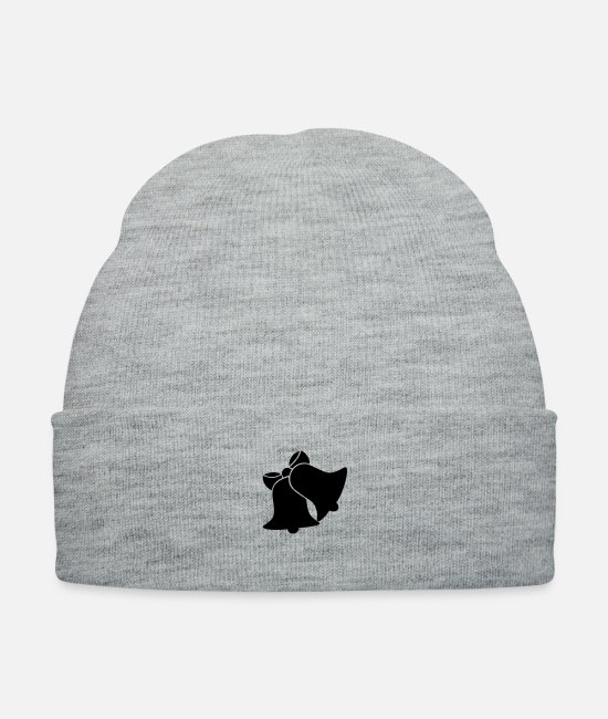 Shock Caps & Hats - Bells silhouette - Knit Cap heather gray