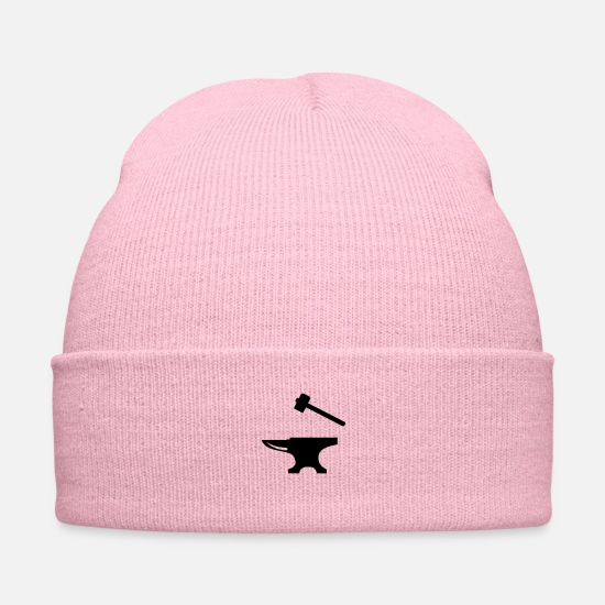 Hammer Caps - Anvil and Hammer - Knit Cap pink
